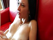 Pretty French Brunette Chick Getting Her Holes Fucked Roughly In