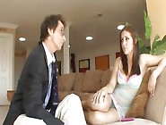 Gracie Glam Gets Grounded And Pounded By Older Stud