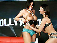 Alluring Lesbians Caught On Tape Doing An Erotic 69 In A Reality