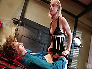 Nasty Chick Ash Hollywood Looks Hot In Corset While Riding Hard