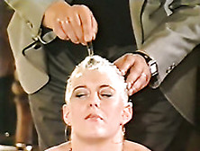 Weird Chick Gets Her Head Shaved In Front Of Everybody
