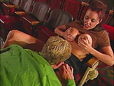 Movie Theater Fuck With Huge Titty Brunette
