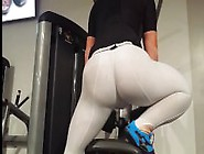 White Lycra Workout