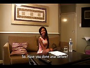 Small-Titted Fit Black Girl Goes Crazy On White Cock