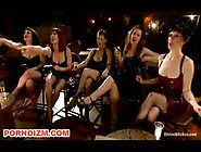 Bdsm Femdom Slave Tormented Infront Group Of Mistresses