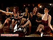 Bdsm Femdom Slave Tormented Infront Group Of Mistresses