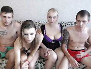 Ffmm Foursome Checking Out What They Look Like On Live Webc