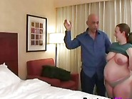 A Horny Doctor Fucks Lusty Pregnant Brunette Woman's Pussy On Th
