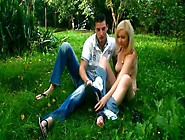 Short Haired Sinful Auburn Chick Sucks Lollicock On The Picnic I
