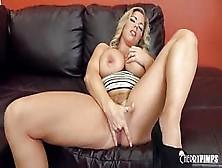 Curvy Blonde Amber Lynn Bach Masturbates