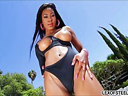 Red Hot Ebony Nadia Jay Pussy Pounded And Face Cum Covered