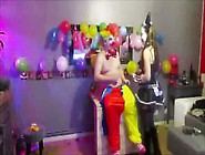 Threesome 2 Clowns Torture A French Camgirl Ohmibod & Punish