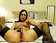Fantastic Big Breasted Webcam Brunette Milf In Stockings Masturb