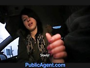 Public Agent Jana Fucks Me In The Car