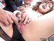 Aiko Nagai In Sexy Office Lady Aiko Nagai Fets Kneaded And Fucke