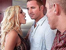 Carmel Moore Dp Banged And Gets Jizzed In Mmf Threesome Fucking