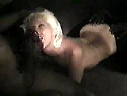 Blonde Swinger Enjoys Black Bukkake Party