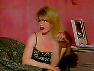 Lewd Blonde Shemale Gets Spanked By Nasty Milf In A Bedroom