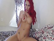 Red Hair Girl Hungrily Rubbed Her Nipple And Rides Toy