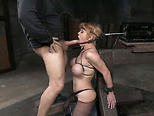 Busty Bound Babe Loves To Be Treated With Bbc And Sybian