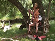 Hot Outdoor Threesome In Hd