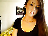 Skinny Hot Young Brunette Is Stripteasing On Webcam
