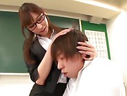 All Japanese Pass - Beautiful Asian Teacher Gets Horny And Fucke