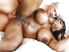 Baldhead White Daddy Licks Ebony Pucker Of Thick Black Slut