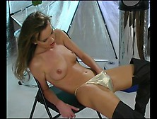 Horny Babe In Golden Bikini - Pleasure Photorama