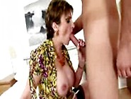 Mature Lady Takes Advantage Of Doll Guy And Get Him To Fuck Her