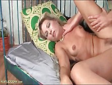 Big Young Dick Fucks Petite Blonde Mature