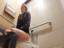 Hot Girl Pooping On Public Toilet
