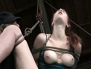 Breast Bondage Treatment To Useless Submissive Skank