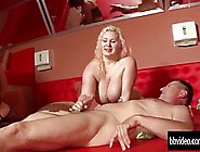 Busty German Milf With Blonde Hair Is Having Group Sex With Guys