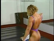 Denise Rutkowski Fbb Posing And Mixed Wrestling