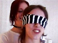 Blindfolded Babe Gets A Mutual Surprise