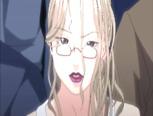 Rape Of Dark Lipstick And Glasses