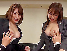 Foxy Japanese Pornstars With Natural Tits Get Fucked Hardcore In