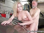 Frances Takes Advantage Of Oldgoesyoung Guy To Land Plum Job - O