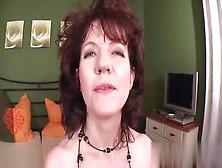 Hairy Brunette Mature Masturbating Alone