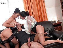 Anissa Kate And Jasmine Jae Adore Sharing A Guy's Fat Cock