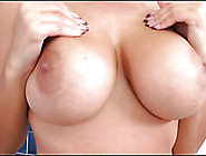Soapy Sensual Jane Playing With Her Melons In The Shower