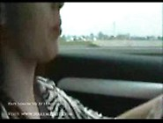 Horny Babe Gets Orgasm While Driving