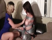 Female Duct Tape Tie And Gagged By Girl