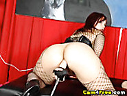 Cam: Fishnet Babe Fucked By Dildo Fucking Machine Hd