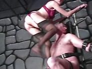 Slave Brutally Kicked And Punched In The Balls.