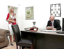 Horny Blonde Darcy Tyler Has No Problem With Gagging On Hard Coc
