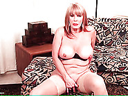 Big Boobs Solo Mature Masturbates In Stockings