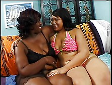 Thick Lesbian Bends Over On The Bed And Gets Pussy Fingered By G