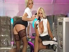 Dannii And Lucy As Sucking,  Fucking Stewardesses
